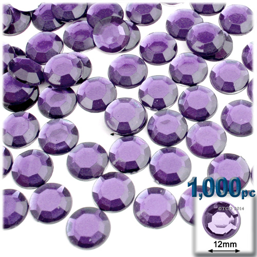Lavender (Light Amethyst) Rhinestones Jewels 12mm - 1,000pc