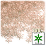 Plastic Beads, Starflake Transparent, 10mm, 100-pc, Champagne