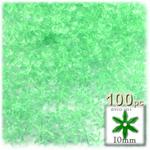 Plastic Beads, Starflake Transparent, 10mm, 100-pc, Sea Mist