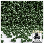 Plastic Beads, Tribead Opaque, 10mm, 200-pc, Army Green