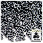 Plastic Beads, Tribead Opaque, 10mm, 200-pc, Black
