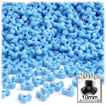 Plastic Beads, Tribead Opaque, 10mm, 200-pc, Light Baby blue