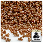 Plastic Beads, Tribead Opaque, 10mm, 200-pc, Light Brown