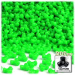 Plastic Beads, Tribead Opaque, 10mm, 200-pc, Light Green