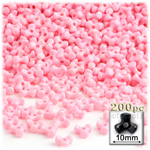 Plastic Beads, Tribead Opaque, 10mm, 200-pc, Pink