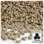 Plastic Beads, Tribead Opaque, 10mm, 200-pc, Tan