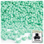 Plastic Beads, Tribead Opaque, 10mm, 200-pc, Turquoise