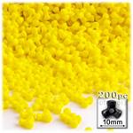 Plastic Beads, Tribead Opaque, 10mm, 200-pc, Yellow