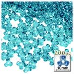 Plastic Beads, Tribead Transparent, 10mm, 200-pc, Aqua