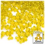 Plastic Beads, Tribead Transparent, 10mm, 200-pc, Acid Yellow