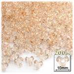 Plastic Beads, Tribead Transparent, 10mm, 200-pc, Champagne