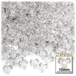 Plastic Beads, Tribead Transparent, 10mm, 200-pc, Clear