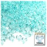 Plastic Beads, Tribead Transparent, 10mm, 200-pc, Light Aqua