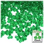 Plastic Beads, Tribead Transparent, 10mm, 200-pc, Light Green