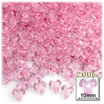 Plastic Beads, Tribead Transparent, 10mm, 200-pc, Pink