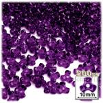 Plastic Beads, Tribead Transparent, 10mm, 200-pc, Dark Purple
