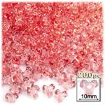 Plastic Beads, Tribead Transparent, 10mm, 200-pc, Salmon Orange