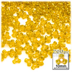 Plastic Beads, Tribead Transparent, 10mm, 200-pc, Sun Yellow