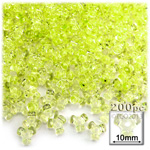 Plastic Beads, Tribead Transparent, 10mm, 200-pc, Yellow