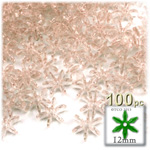 Plastic Beads, Starflake Transparent, 12mm, 100-pc, Champagne