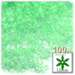 Plastic Beads, Starflake Transparent, 12mm, 100-pc, Sea Mist
