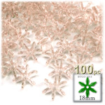 Plastic Beads, Starflake Transparent, 18mm, 100-pc, Champagne