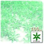 Plastic Beads, Starflake Transparent, 25mm, 100-pc, Sea Mist