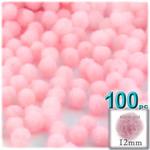 Pom Poms, solid Color, 0.5-inch (12mm), 100-pc, Light Pink