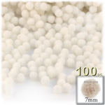 Acrylic Pom Poms, solid Color, 1.0-inch (7mm), 100-pc, Cream