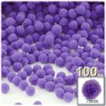 Pom Poms, solid Color, 1.0-inch (7mm), 100-pc, Light Purple