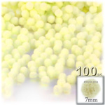 Pom Poms, solid Color, 1.0-inch (7mm), 100-pc, Light Yellow