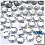 Crystal Clear Flatback Round Rhinestones 12mm 1,000pc