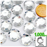 Crystal Clear Flatback Round Rhinestones 16mm 1,000pc