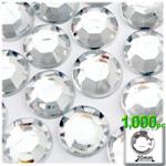 Crystal Clear Flatback Round Rhinestones 20mm 1,000pc