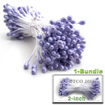 Pearl Stamen, Pistil Double End, 3mm, 1-Bundle, Lavender Purple