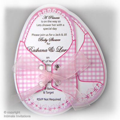 12 Baby Shower Invitations Baby Booties Blue Daisies Blue