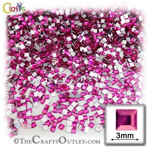 Fuchsia Rhinestones Jewels 3mm - 1,440pc